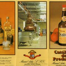 Catálogo de bebidas. Manuel Acha. Amurrio-Álava. 1979