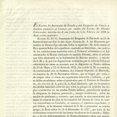 Correspondencia - 1831, octubre, 6 h. Madrid