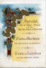 Listado de vinos. A. R. Valdespino y Hno. Xerez